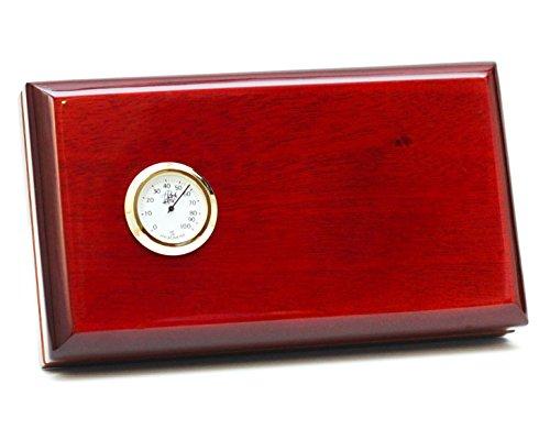 BCIC Cigar - The Viajero - 5 Cigar Travel Humidor, Dark Burgundy...