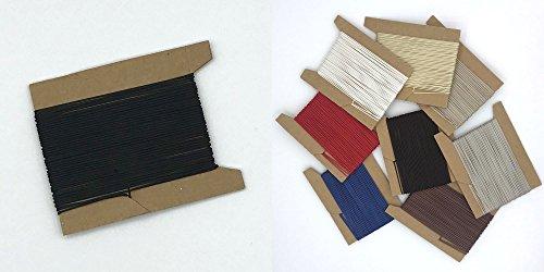 ps FASTFIX 30 m Schnur für Plissees 0,8 mm - 8 Farben - Plisseeschnur - Spannschnur für Plissee schwarz