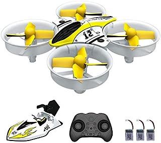 AIRJUGAR ドローン 空陸両用ドローン ミニドローン 4CH 6軸ジャイロ ヘッドレスモード ワンキーリターン ミニ無人機 日本語説明書付き 【AJ1002】