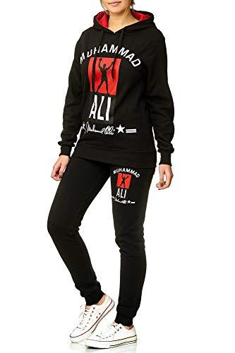 Damen Trainingsanzug | Muhammad Ali 2013 | (XXL- fällt größer aus, Schwarz)