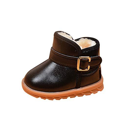 Invierno Botas De Chicos Chicas Al Aire Libre Sneaker Patucos Calientes De Bebé Niños Niñas Fondo Blando Negro 30