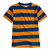 Levi's Boys' Basic T-Shirt, true blue striped, M