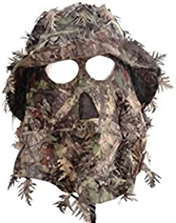 QuikCamo Mossy Oak Obsession Camouflage 3D Leafy Bucket Hat Hunting Face Mask Combination