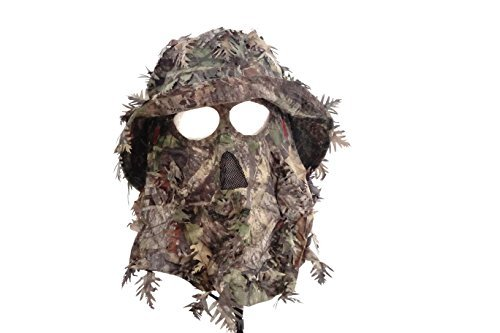 QuikCamo Mossy Oak Obsession Camouflage 3D Leafy Bucket Hat Hunting Face Mask Combination (58cm, 7 3/8, Med/Lrg)