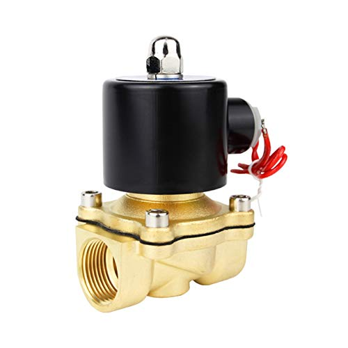 YIJIAN-UMBRELLA Válvula de solenoide eléctrica 1/4 3/8 1/2 3/4 1 Pulgada DN8 / 10/15 / 20/25 / 50 Normalmente Cerrado Agua neumática Aire 12V 24V 220V 110V (Specification : DN10, Voltage : AC110V)