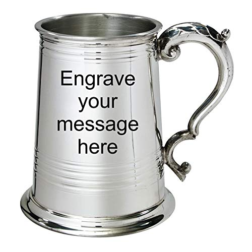 Dad Gift Sports trophy Boxed Wedding Retirement 1 Pint Pewter Tankard Customized Engraved Free Wentworth Pewter Birthday