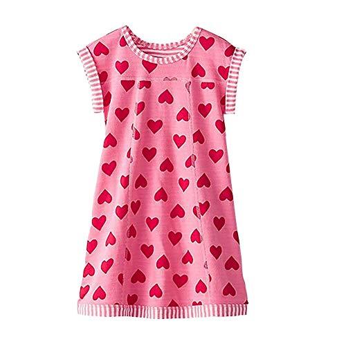 VIKITA Sommer Kleider Mädchen Ärmellos Kleid Baumwolle Bunt Print Stickerei Freizeitkleidung Gr.86-128 MS0320 6T