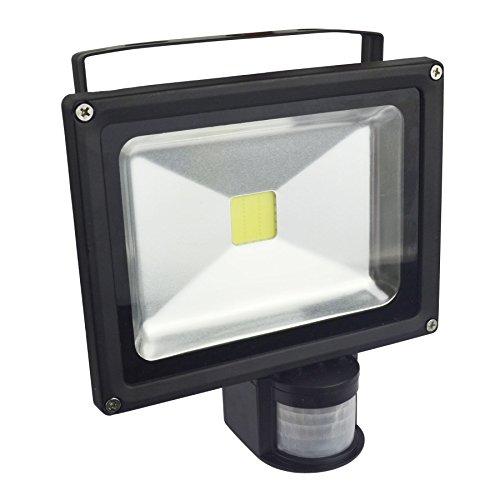 AB Tools Projecteur LED 20w Sécurité IRP 1400 Lumen 6000k Blanc Jour E03 étanche