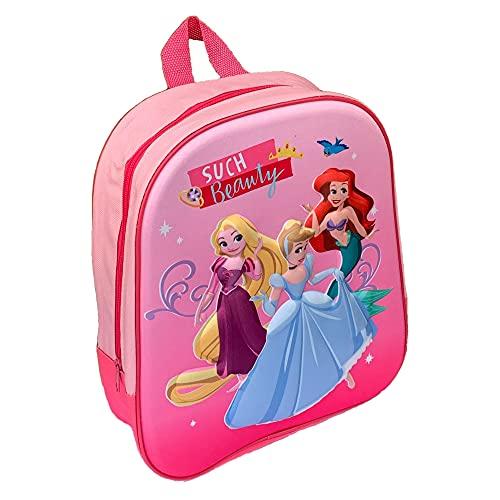 M.C. srl Mochila para guardería 3D Princesas Disney Rapunzel Ariel Cenicienta, bolso escolar 32 cm – PR0727