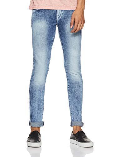 Wrangler Men's Skinny Fit Jeans (W30371W22990038033_Jsw-Mid Stone Rags_38)