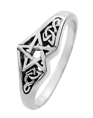 Moonlight Mysteries Sterling Silver Celtic Knot Pentagram Star Ring Size 5