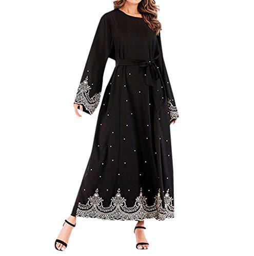 Musulmane Robe de mariée Caftan,Abaya Femme Musulmane Robe Longue - Caftan Marocain Kaftan Dubai Arabe Orientale Islamique Vêtements Mousseline à Rayures