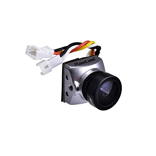 RunCam Racer Nano CMOS WDR FPV Kamera Tinywhoop 14 * 14 mit 14-19-Halterung Silber (2.1mm FOV 145°)