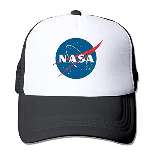 Bgejkos NASA Mesh Cap Trucker Hat Schwarz QW782
