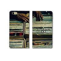 301-sanmaruichi- iPhone7 ケース iPhone7 手帳ケース 手帳型 おしゃれ hipjop dj dig ディグ レコード バイナル B シボ加工 高級PUレザー 手帳ケース ベルトなし