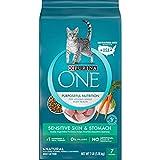 Purina ONE Natural Dry Cat Food, Sensitive Skin & Stomach Formula - 7 lb. Bag