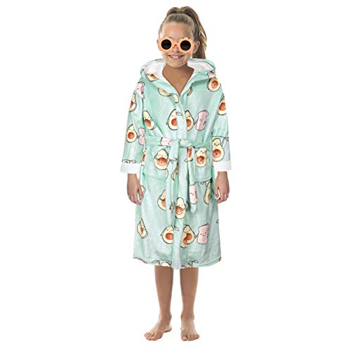 QIANZI Galaxy Blanket Robes Oversized Wearable Sweatshirt Blankets Soft Sherpa Giant Plush for Adults Women Men Kids, Double Absorbent Quick Drying Bathrobe Warm Lacing Nig Avocado-S