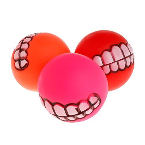 A0127 Gummiball Quietschende Zähne Lustige Round Balls Haustier Spielzeug Sichere Katze Kätzchen Hund Welpen Liefert Spielen Kauen Biss Interaktive Produkte