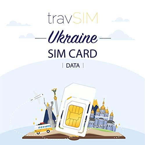 travSIM - Carta SIM Prepagata Ucraina (SIM Dati per l Ucraina) - 5GB di Dati Mobili da Utilizzare in Ucraina Valido per 30 Giorni - la Carta SIM Dati Ucraina Funziona in Oltre 50 Paesi