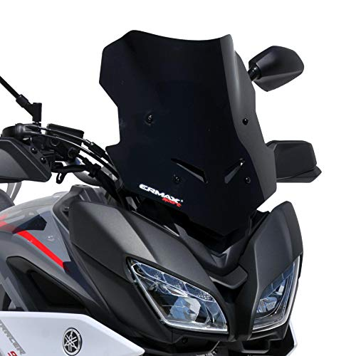 45cm Mod/Ã/¨le Touring Sport Business Bulle sport ermax pour MP3 125 300 500 2011 2018 marron transparent