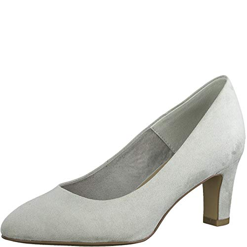 Tamaris Damen Pumps 22418-24, Frauen KlassischePumps, elegant Woman Abend Feier Court-Shoes Absatzschuhe Abendschuhe Lady,Grey,41 EU / 7.5 UK