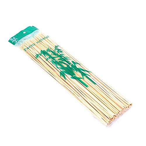 drawihi pratique 90 Lot de 25 cm extérieur barbecue Brochettes röst Bambou Outils de sticks BBQ Brochettes Bâtons de bois naturel