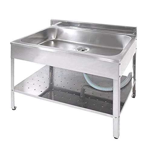 サンカ 錆びにくいステンレス製 シンクが深い 簡易流し台 屋外 アウトドア用 ガーデンキッチン 850 SK-0850 シルバー 日本製