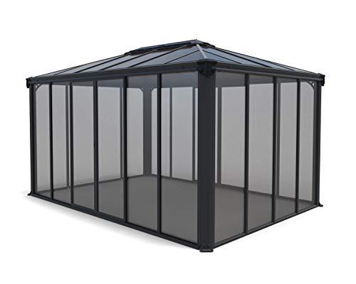 Palram Ledro Wintergarten, Grau, 430 cm x 296 cm x 275 cm