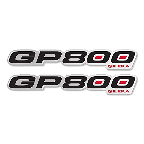 2 Adhesivos Resina GP 800 Escrito 3D Compatible para Scooter Gilera GP800 - Mod.2