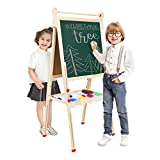 Best Kids Easels - YOUNIS Wooden Kids Easel, Double Sided Standing Art Review