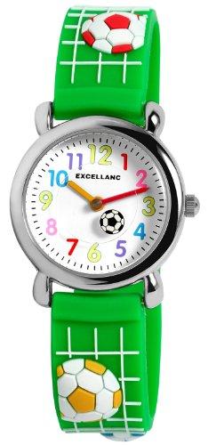 Excellanc 407060000032 - Orologio da polso unisex, cinturino in plastica colore verde