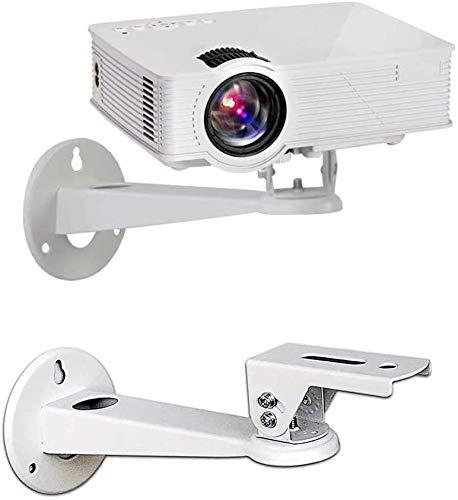 Drsn Soporte de Pared para proyector, para CCTV/Cámara/Proyector/Webcam, con Carga de 7 Libras Longitud 7.8 Pulgadas - Rotación 360° (Blanco)