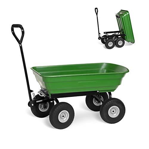 Gartenwagen mit Kippfunktion 250 kg pannensicher Bollerwagen Transportwagen Handwagen