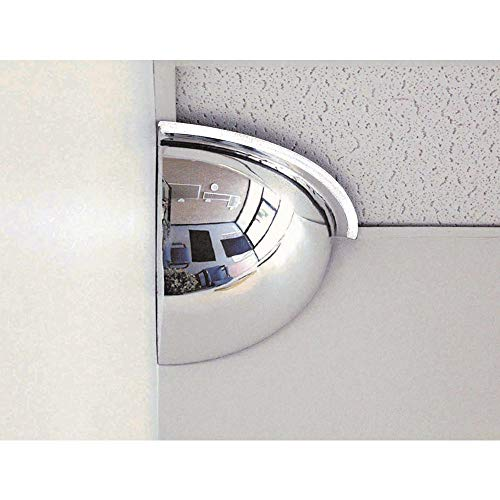 """See All PV18-90 Panaramic Quarter Dome Plexiglas Security Mirror, 90 Degree Viewing Angle, 18"""" Diameter (Pack of 1)"""