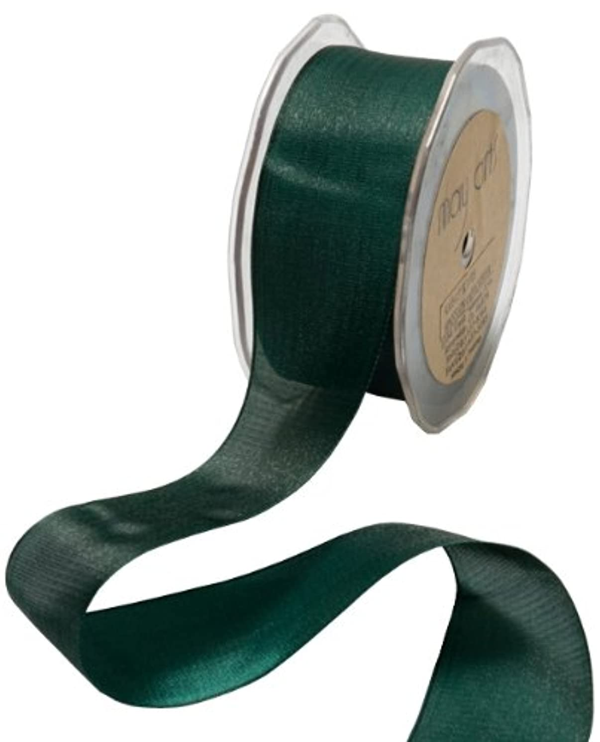 May Arts 1-1/2-Inch Wide Ribbon, Forest Green Iridescent