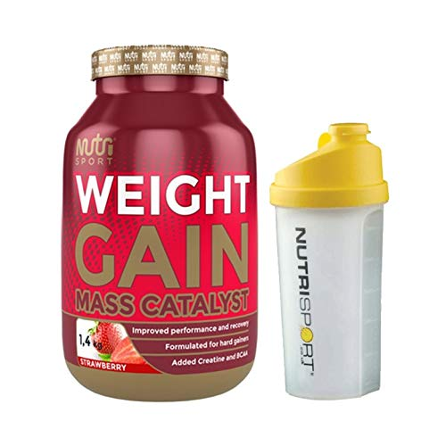 Nutrisport Weightgain Strawberry Shaker, 1.4 kg