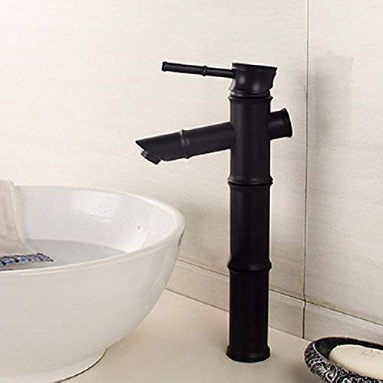CFHJN Home Waschraum-Mischbatterie Kupfer im europischen Stil schwarz Warm und kalt Einhand-Einloch-Waschtisch Sit Steigern Sie die Keramik