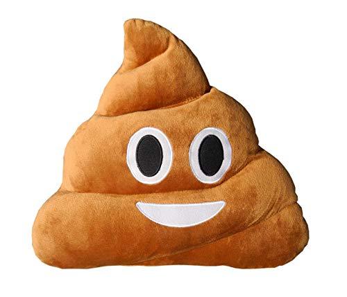 ducomi® Kissen Emoji Emoticon Smiley und Poo–Gutes Geschenk Face 12