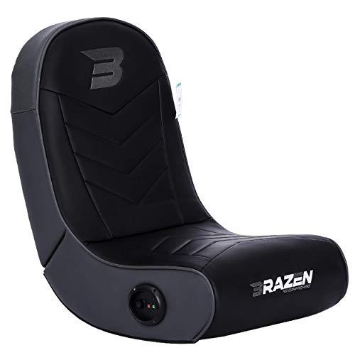BraZen Stingray 2.0 Children Gaming Chair Foldable Floor Rocker with Speaker - Grey