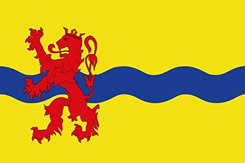 magFlags Drapeau Large Valkenburg ad Geul vlag | Dutch municipy of Valkenburg aan de Geul 2016 Version | Drapeau Paysage | 1.35m² | 90x150cm