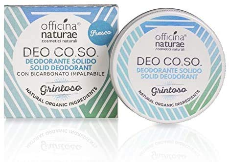 Officina Naturae Deo Co. So. Graveleuse Parfum Frais Déodorant Solide Bio Plastique sans avec Bicarbonate 50 ML …