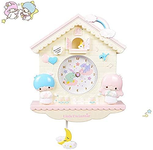 Reloj de pared de 12 pulgadas de dibujos animados My Melody Swing niños niñas reloj de pared de cuarzo decoración del hogar dormitorio reloj de pared de dibujos animados