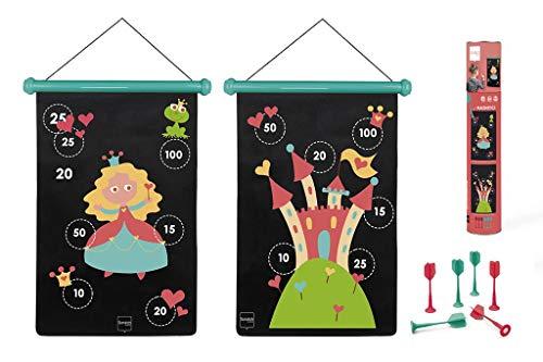 Scratch 6182010 6182010-Dartspiel für Kinder, Prinzessin, groß, magnetisch, 70 x 36 cm