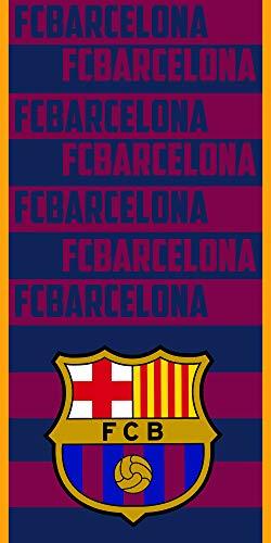 FC Barcelona Toalla Microfibra FCB135, 70 X 140 cm, Azulgrana ✅