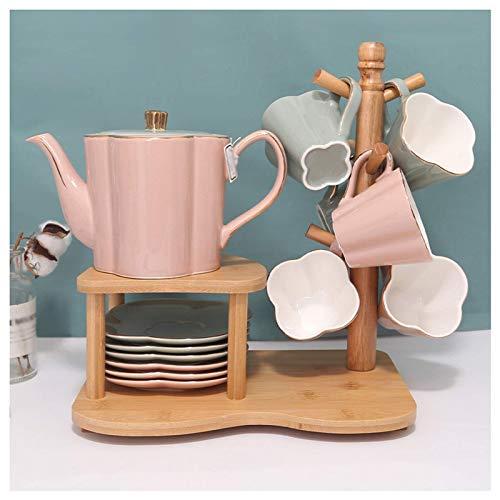 Tazas para Bebidas Juego de té de cerámica de Estilo nórdico Taza de té de Lujo Ligero para Sala de Estar Juego de té de la Tarde Taza de café innovadora Personalizada para la Familia, Fiestas, Boda