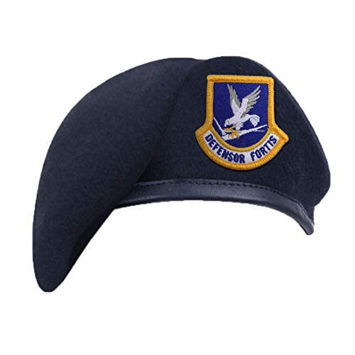 Rothco Inspection Ready Beret with USAF Flash, Midnight Navy Blue, Size 7
