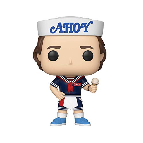 Funko - Pop! Vinyl: Stranger Things - Steve w/Hat and Ice Cream Figura De Vinil, Multicolor (38535)