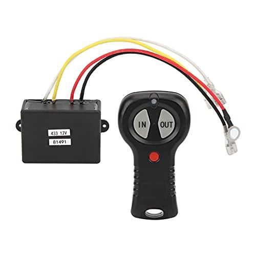 WJIN Juego de Control Remoto de cabrestante de 12 V, Interruptor único...