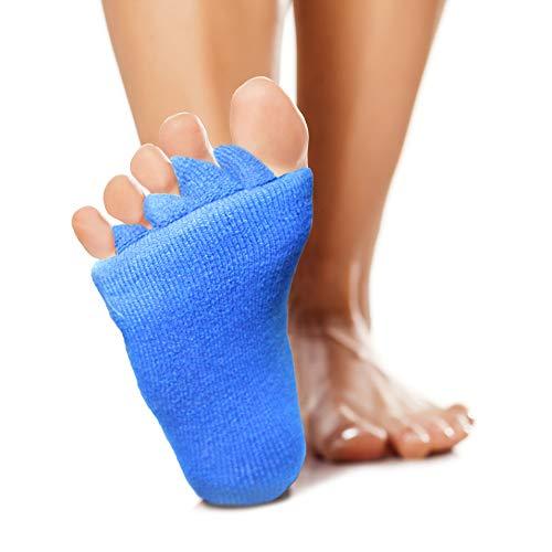 High Pulse Zehenspreizer Socken (2 Paar | Einheitsgröße) - Die sanfte Entspannung bei Hallux Valgus und Zehenfehlstellungen (2er Set Blau)
