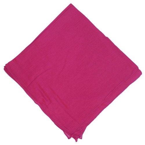 IB IB Halstuch 50x50cm Baumwolle 1A Qualität Einfarbig Bedruckbar Bestickbar Azofrei Uni Tuch Kopftuch Schultertuch Accessoire (1x, pink)